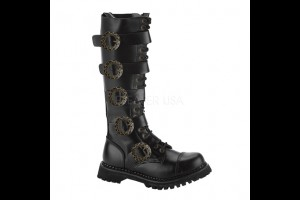 Discontinued Item Sale 20 Eye Leather & Steel Toe Steampunk Boot