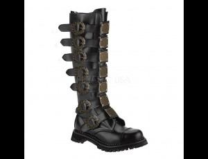Discontinued Item Sale 30 Eye Steampunk Boot Leather Steel Toe