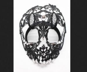 Sugar Skull Lace Mask