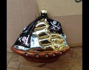 Black Sails Glass Ornament