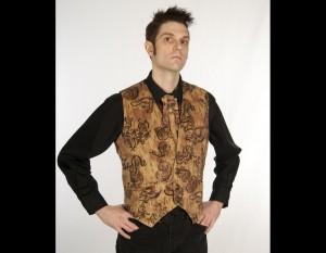 Printed Corduroy Waistcoat Vest