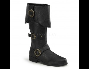 Cuffed Cosplay Boot with Zipper