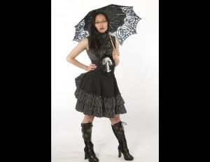 Pinstriped Lolita Frills Blouse