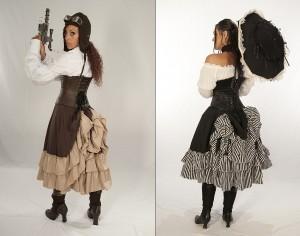 Persephone Mid-length Bustle Skirt