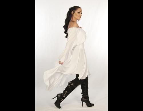 Lady Cutlass Dress White
