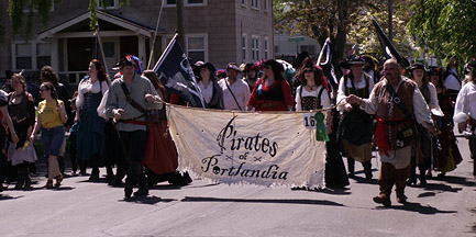 Pirates of Portlandia on parade