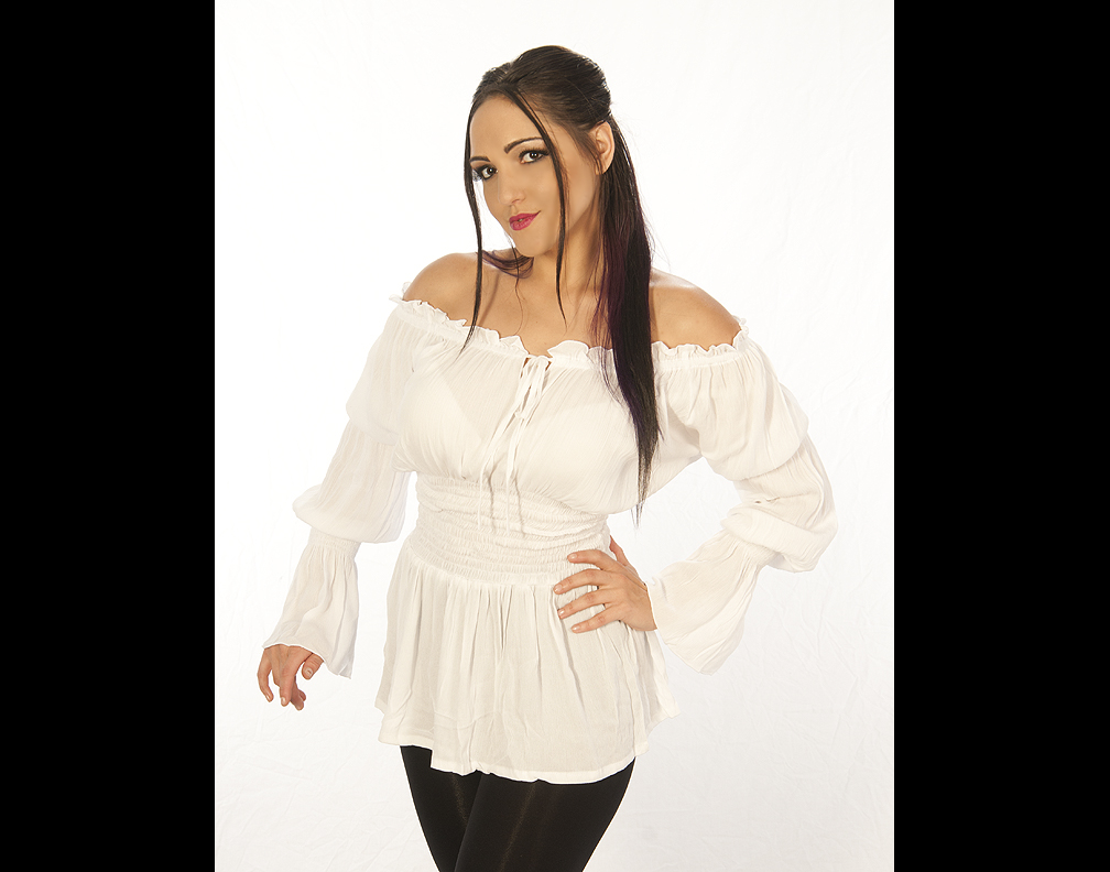 Womens White Pirate Blouse 74