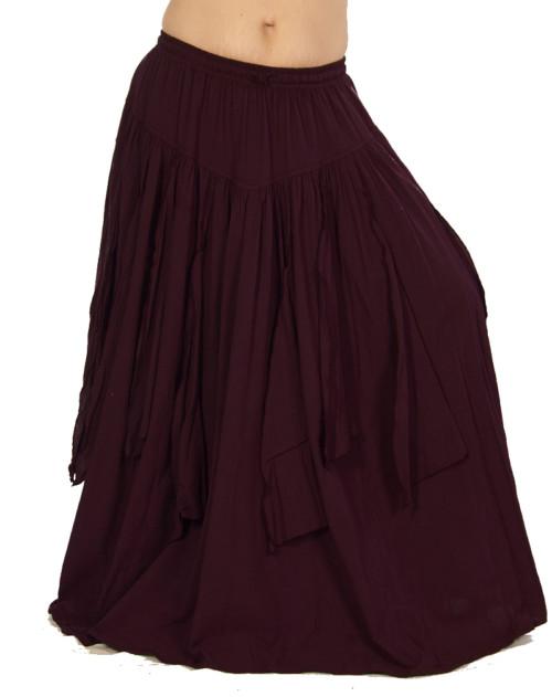 Festival Petal Skirt in Mahogany