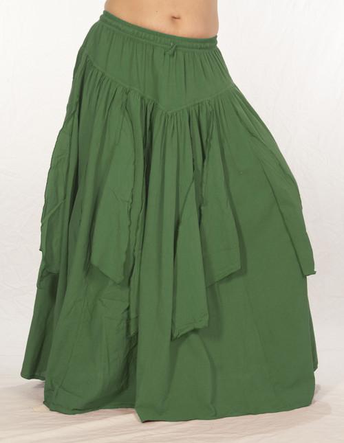 Festival Petal Skirt in Olive