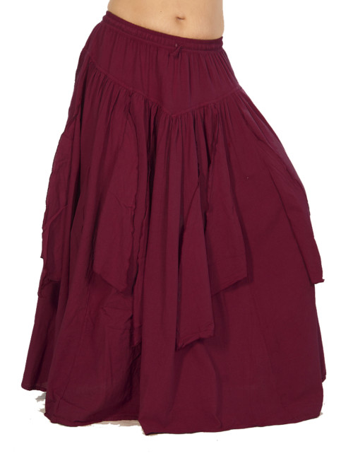 Festival Petal Skirt in Wine