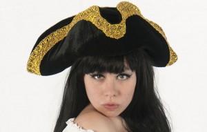 Plush & Metallic Pirate Hat