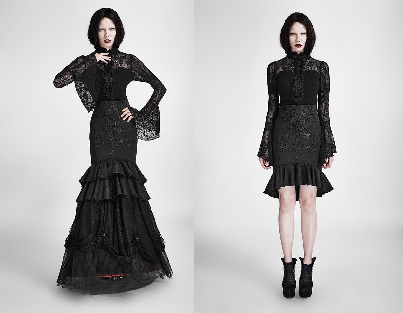 1463341607 Black Widow Mermaid Double Skirt – Dress Like a Pirate