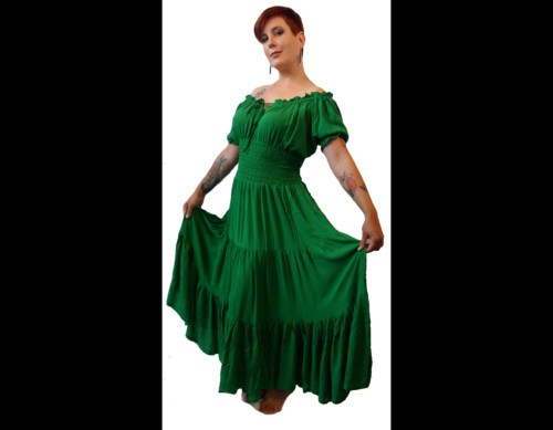short sleeve peasant gown